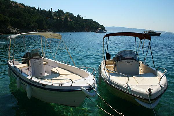 Boat Distances - Corfu Kalami Boat Hire